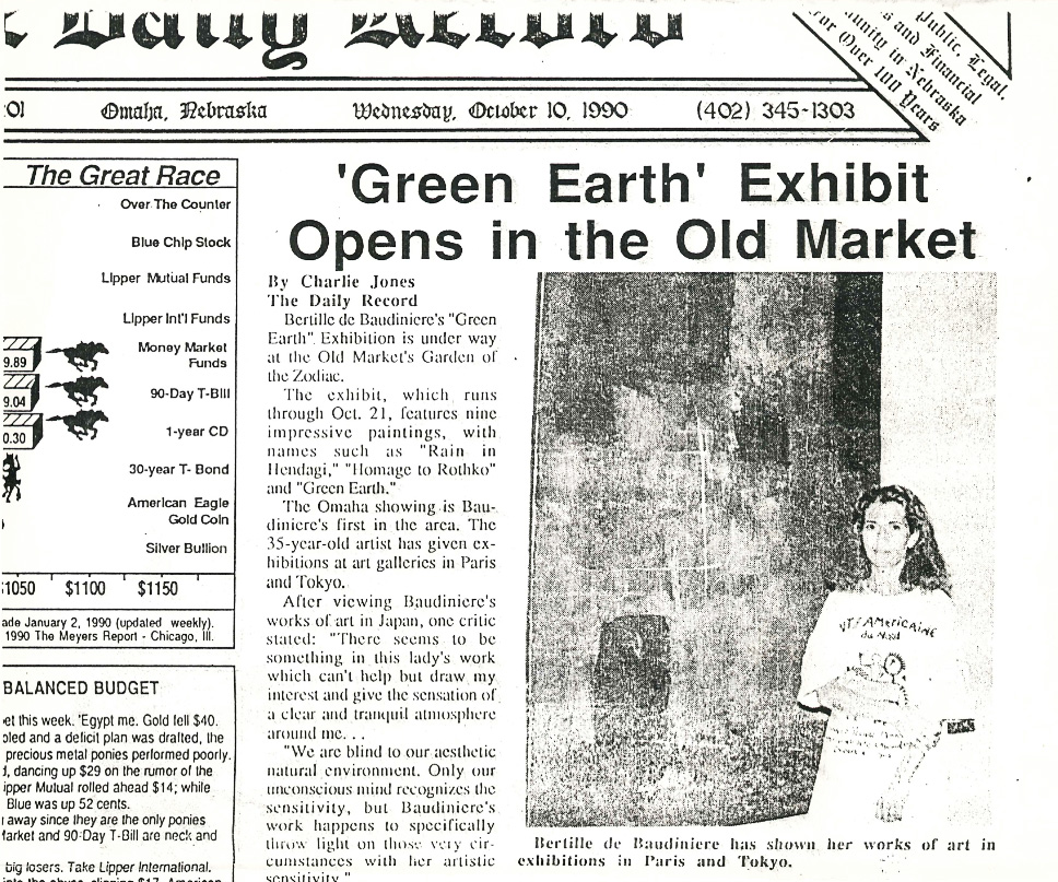 """Green Earth"" exhibit opens in the Old Market"
