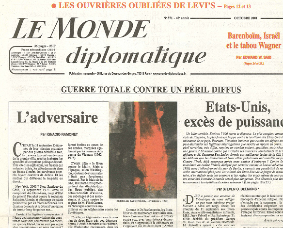Le Monde Diplomatique - October 2001